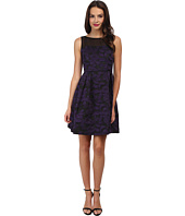 Adrianna Papell - Pleats Detail Fit & Flare Dress