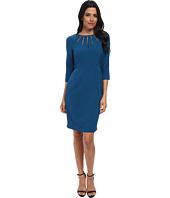 Adrianna Papell - Radiated Netting Inset Sheath Dress