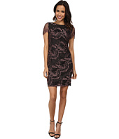 Adrianna Papell - Draped Detail Lace Sheath Dress
