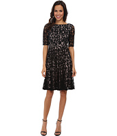 Adrianna Papell - Lace Fractured Fit & Flare Dress