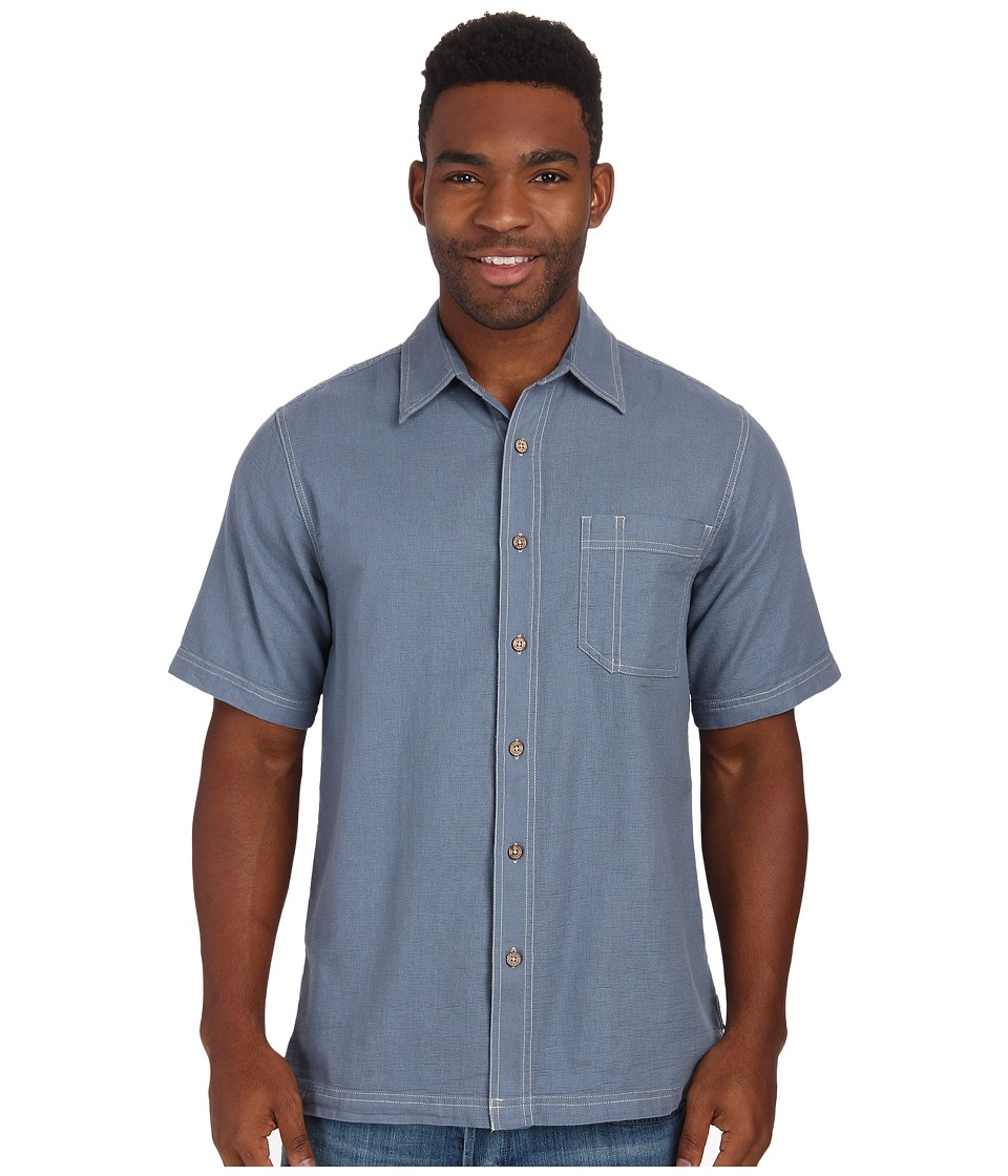Royal Robbins Cool Mesh S/S Steel Blue Mens Short Sleeve Button Up