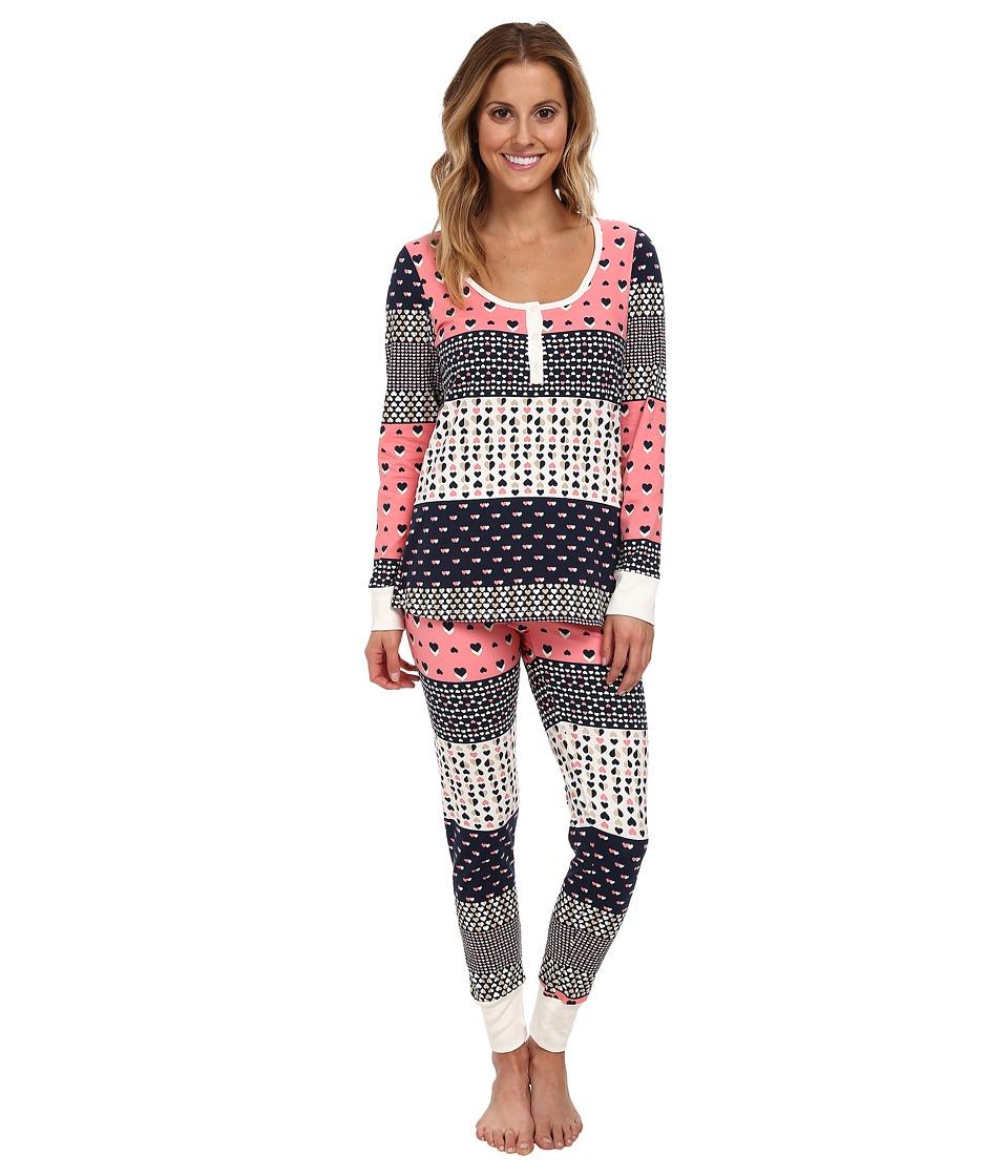 BedHead Henley PJ (Pink Hearts Galore) Women's Pajama Sets
