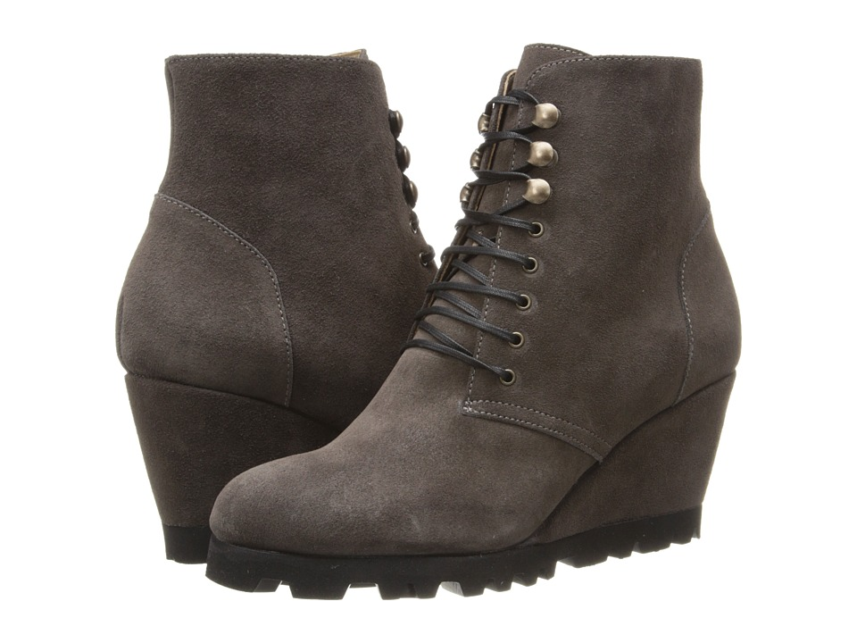Anyi Lu Fiona Graphite Suede Womens Zip Boots