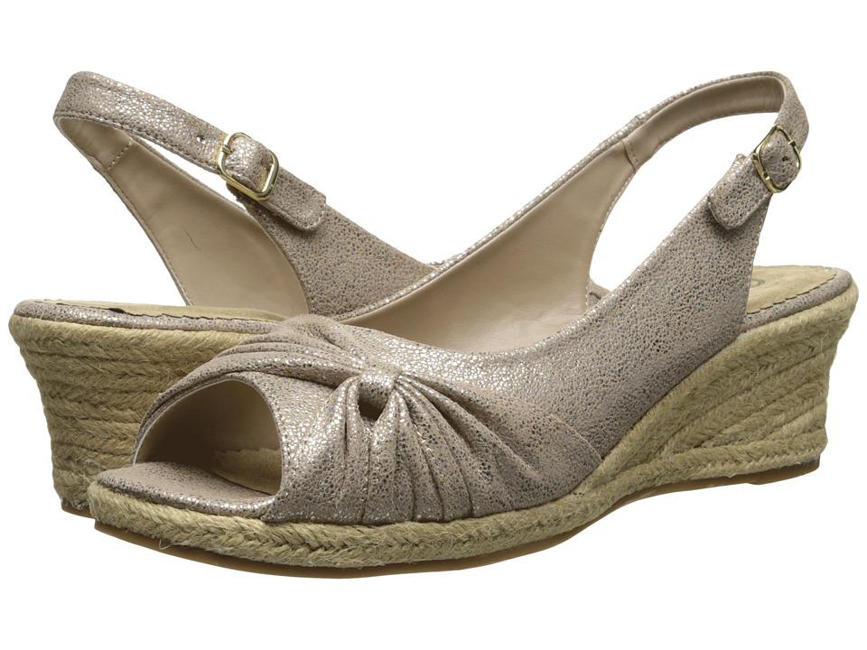 Bella-Vita - Sangria Too (Taupe/Gold) Women's Wedge Shoes