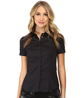 Versace Jeans - Short Sleeve Button Up Blouse