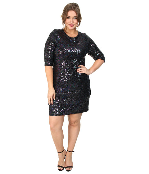 BB Dakota - Plus Size Yuma Dress (Aubergine) - Apparel