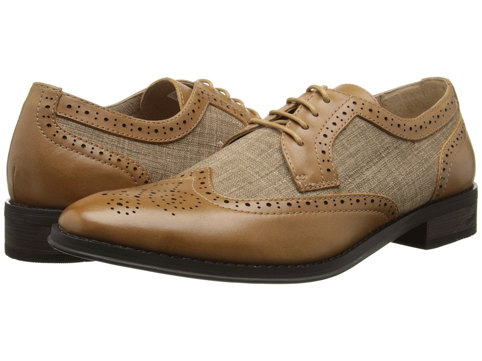 VIONIC with Orthaheel Technology - Roth Camel Mens Lace Up Wing Tip Shoes $159.95 AT vintagedancer.com