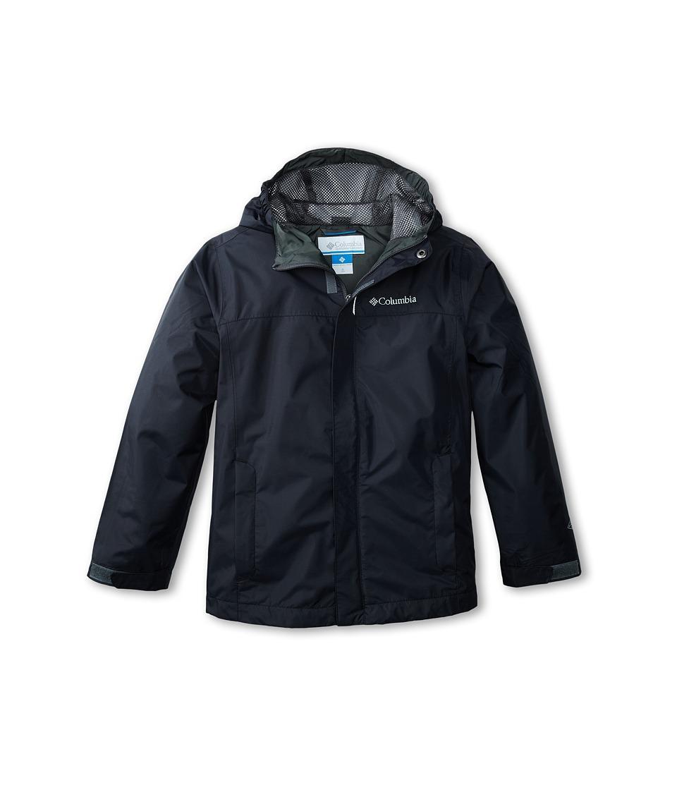 Columbia Kids - Watertighttm Jacket (Little Kids/Big Kids) (Black/Grill) Boys Jacket