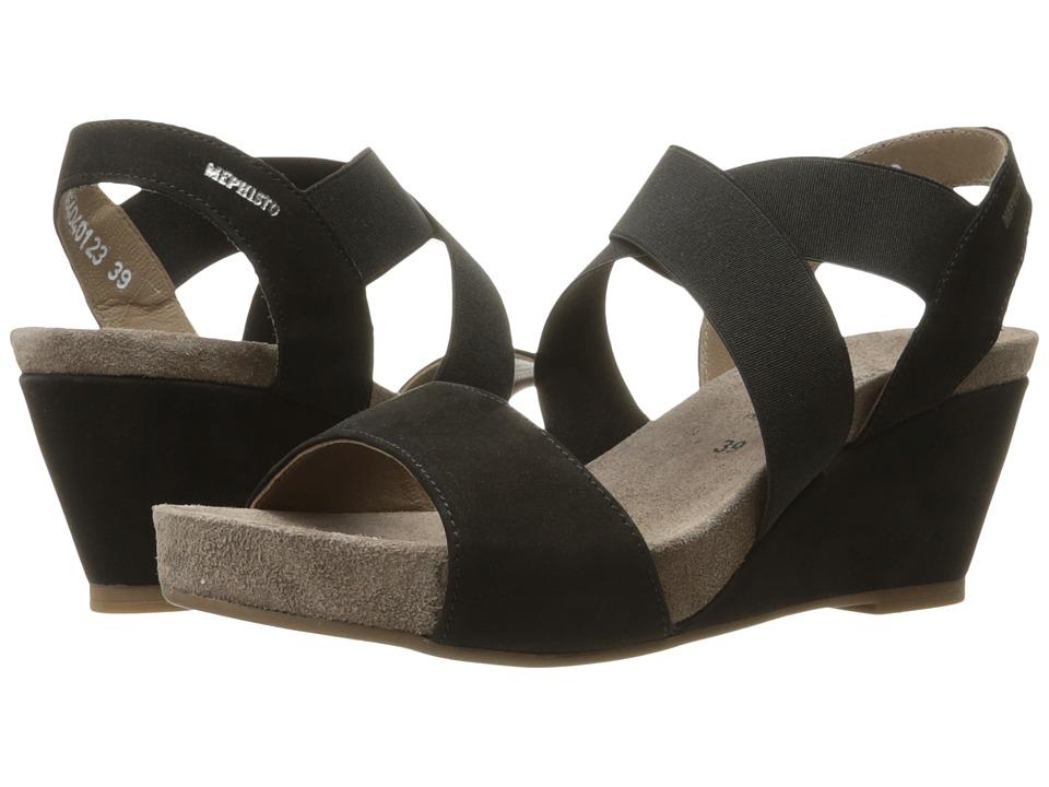 Mephisto Barbara (Black Bucksoft) Sandals