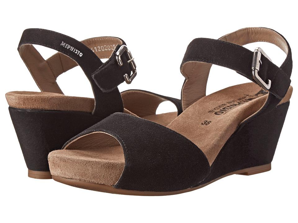 Mephisto Beauty (Black Velcalf Premium) Women's Hook and Loop Shoes