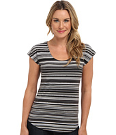Mod-o-doc - Beach Stripe Cotton Modal Scoopneck Tee