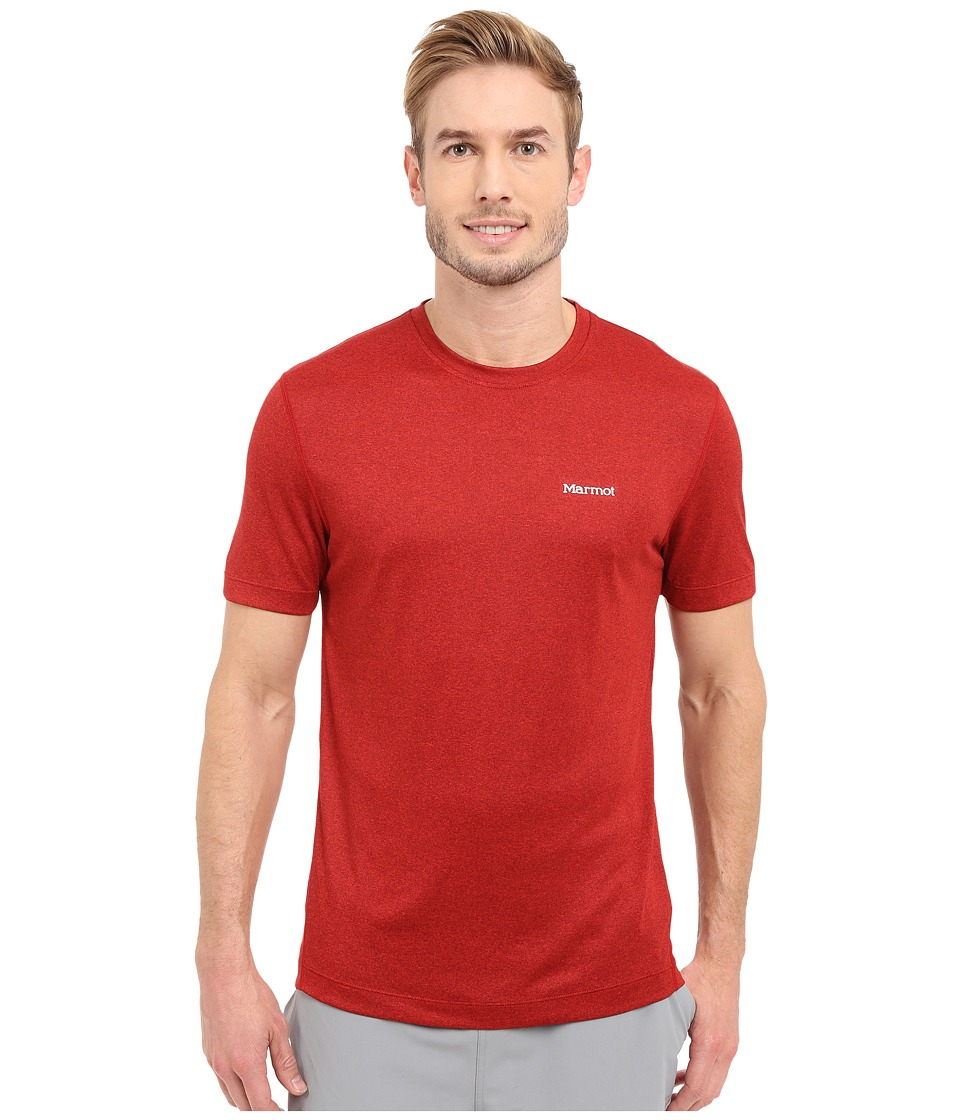 Marmot - Conveyor S/S Tee (Team Red Heather) Men