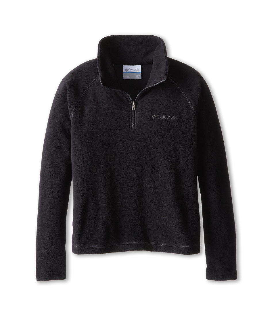 Columbia Kids - Glacialtm Half Zip (Little Kids/Big Kids) (Black/Grill) Boys Sweatshirt