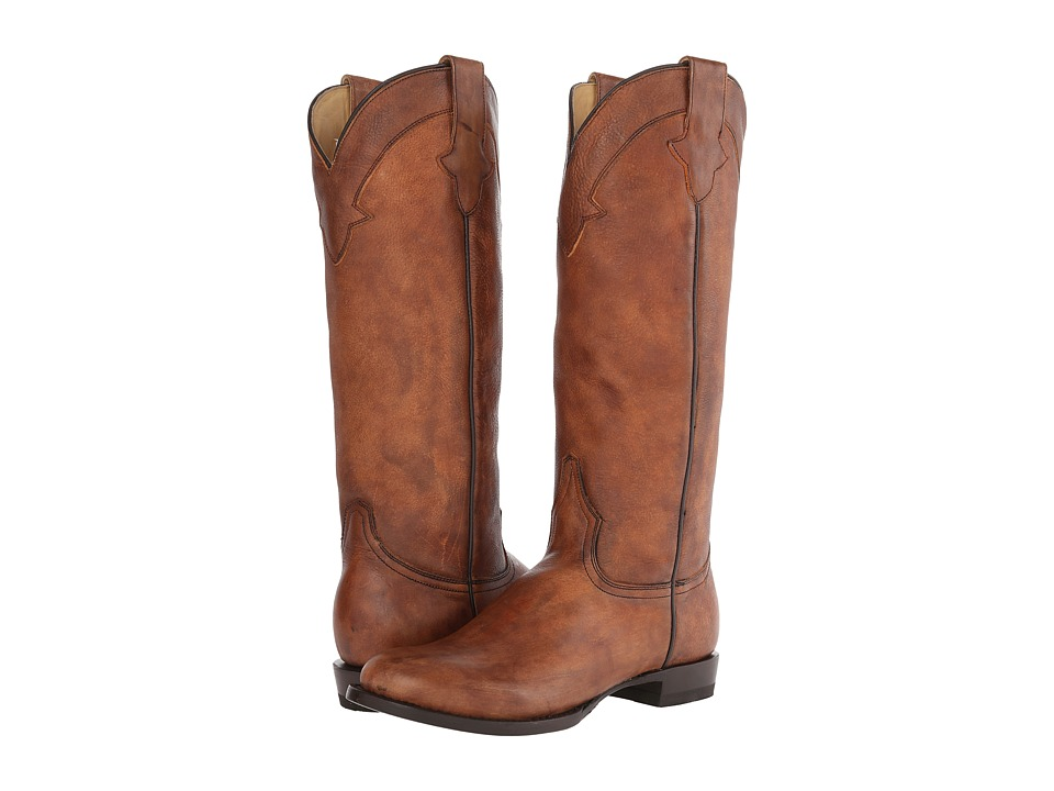 Stetson - Round Toe Riding Boot (Brown) Cowboy Boots