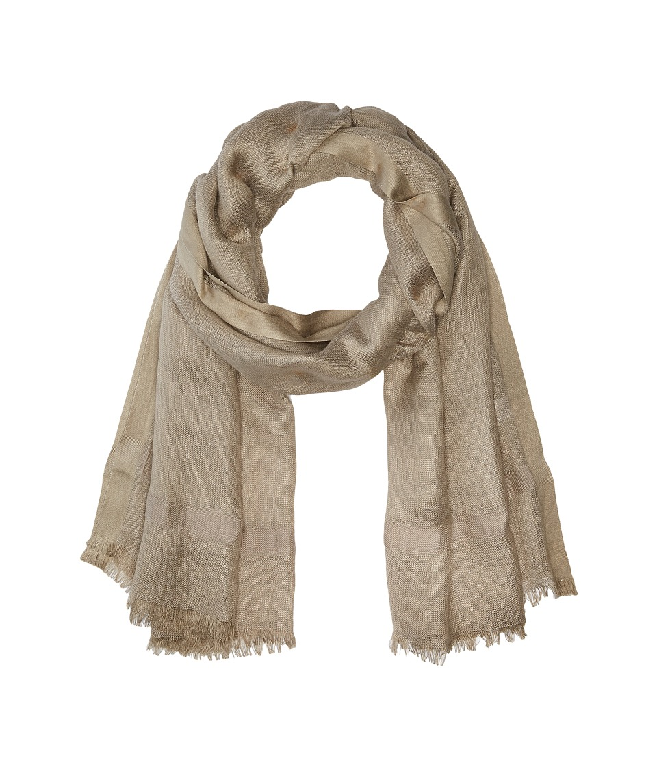 Love Quotes - Linen Lurex Eyelash Scarf (Beechwood) Scarves