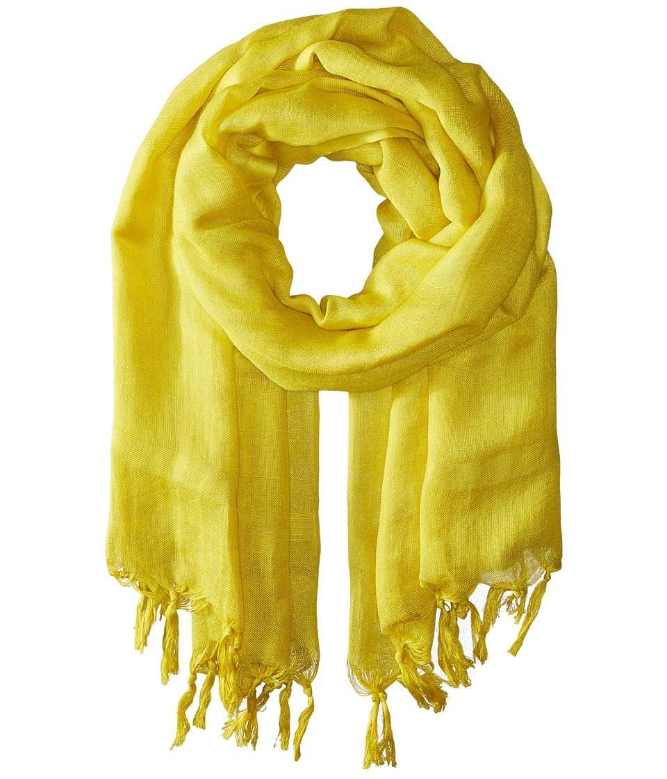 Love Quotes Linen Tassel Scarf Antique Moss Scarves