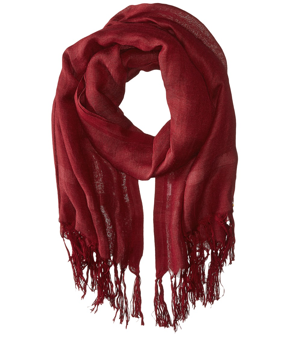 Love Quotes Linen Tassel Scarf (Beaujolais) Scarves