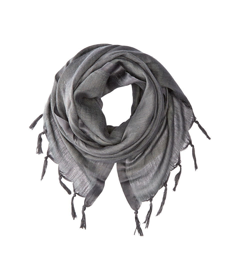 Love Quotes Linen Tassel Scarf Charcoal Scarves