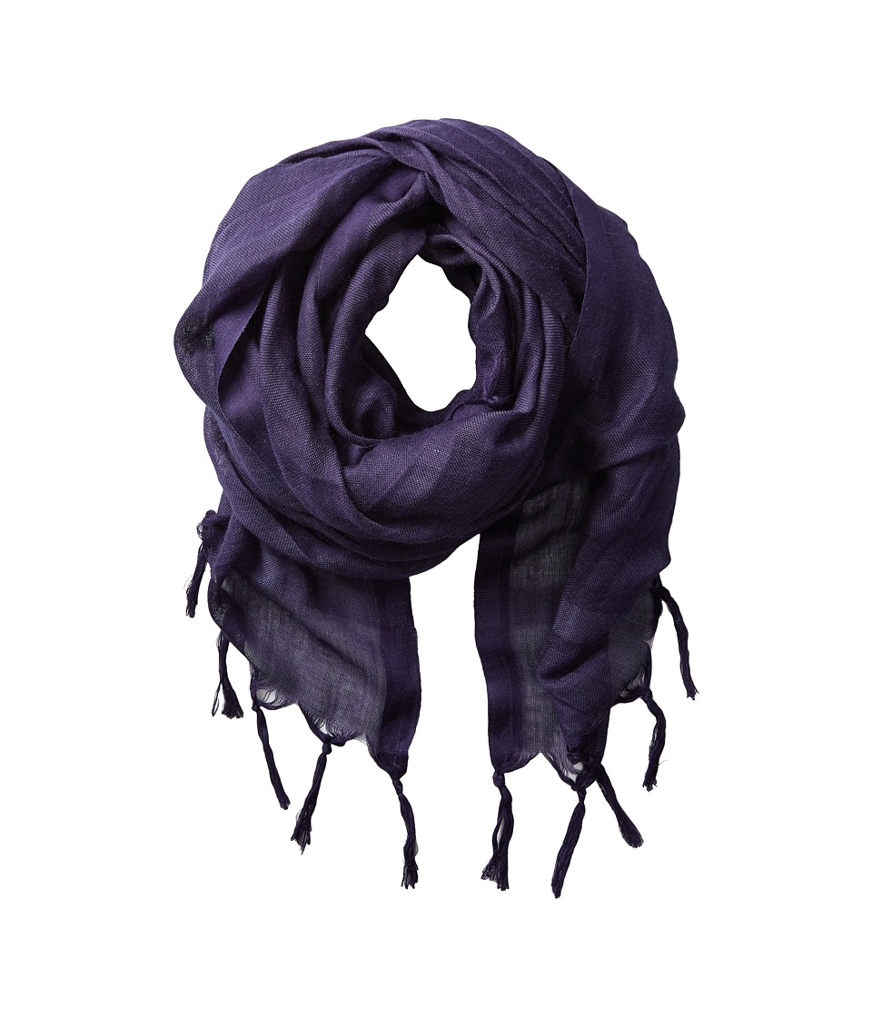 Love Quotes Linen Tassel Scarf (Maritime) Scarves