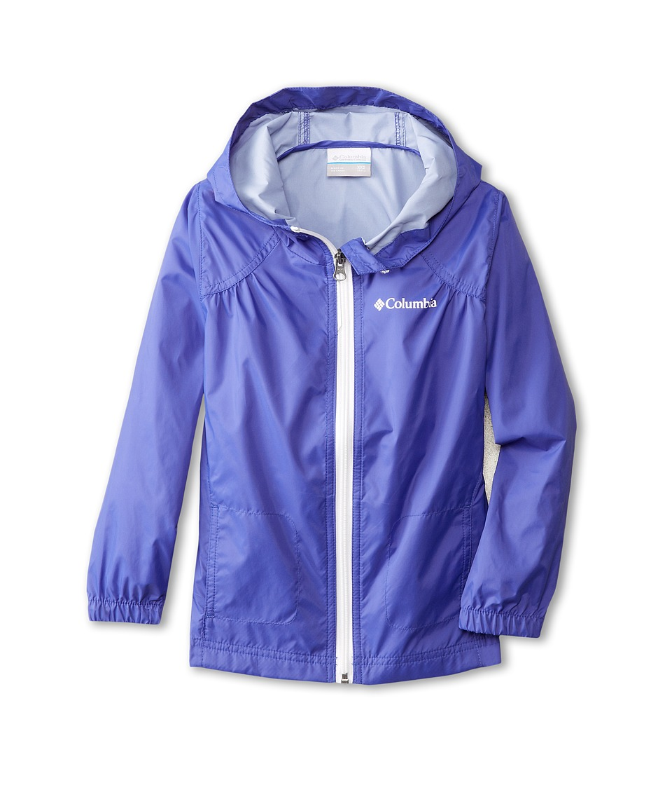 Columbia Kids Switchback Rain Jacket (Little Kids/Big Kids) (Light Grape/White) Girl