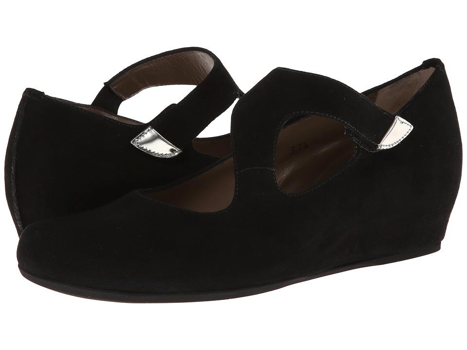 Anyi Lu Shirlee Black Suede Womens Wedge Shoes