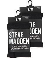 Steve Madden - 2 Pack Fleece Solid and Leopard Footless Tight