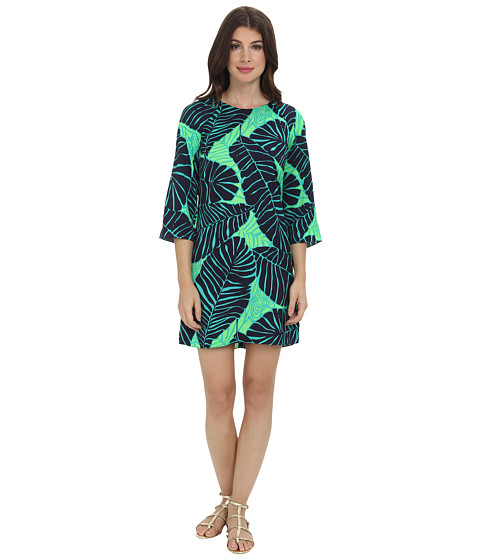 Shop Lilly Pulitzer online and buy Lilly Pulitzer Carol Shift Dress New Green Under The Palms Online - Lilly Pulitzer - Carol Shift Dress (New Green Under The Palms) - Apparel: Looking good shouldn't be so easy, but sometimes it is. This is one of those lucky times. ; Shift dress in printed polyester satin. ; Relaxed, flowy fit. ; Round neckline. ; Three-quarter raglan sleeves. ; Center back seam. ; Straight hem. ; Slip-on. ; Unlined. ; 100% polyester. ; Machine wash cold, line dry. ; Imported. Measurements: ; Length: 35 in ; Product measurements were taken using size 2. Please note that measurements may vary by size. ; Keep your clothing clean, in place, and in style with these products! Hollywood's best-kept Fashion Secrets: