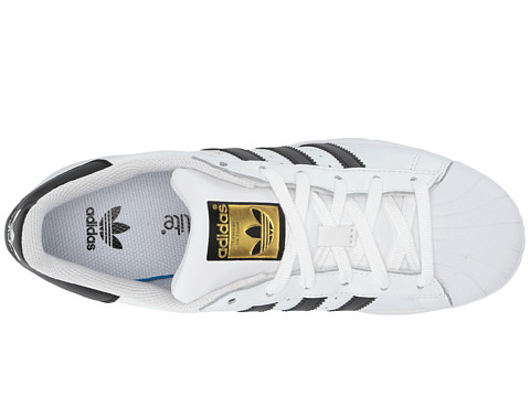 Adidas Men Superstar Foundation white burgundy gold metallic Bait