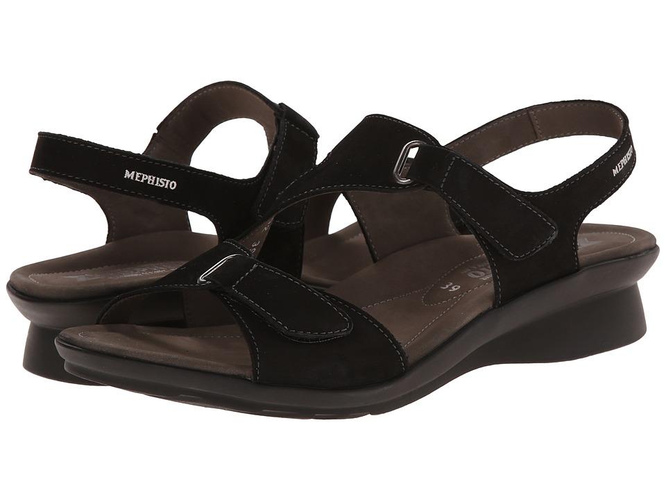 Mephisto - Paris (Black Bucksoft) Women's Sandals