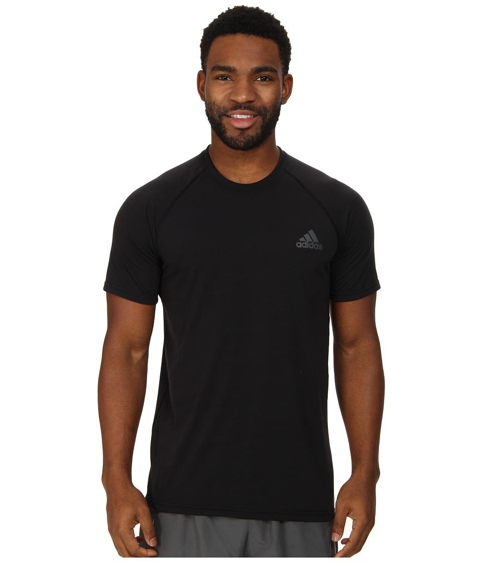 adidas - Ultimate S/S Crew Tee (Black/DGH Solid Grey) Men