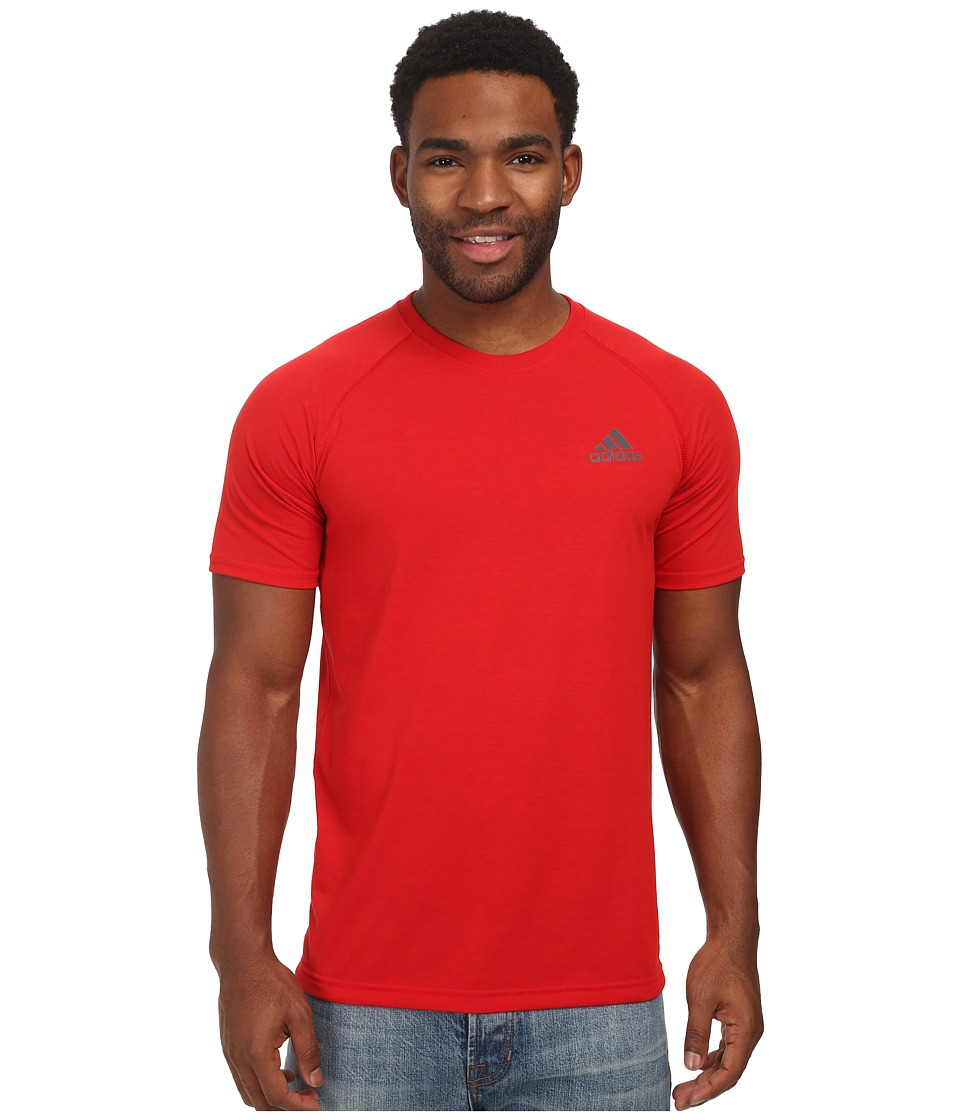 adidas Ultimate S/S Crew Tee Scarlet/DGH Solid Grey Mens T Shirt