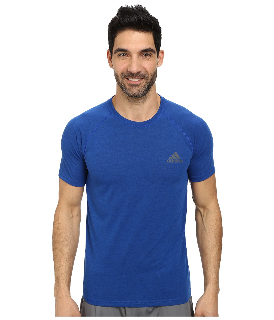 adidas - Ultimate S/S Crew Tee (Collegiate Royal Heather/DGH Solid Grey) Men