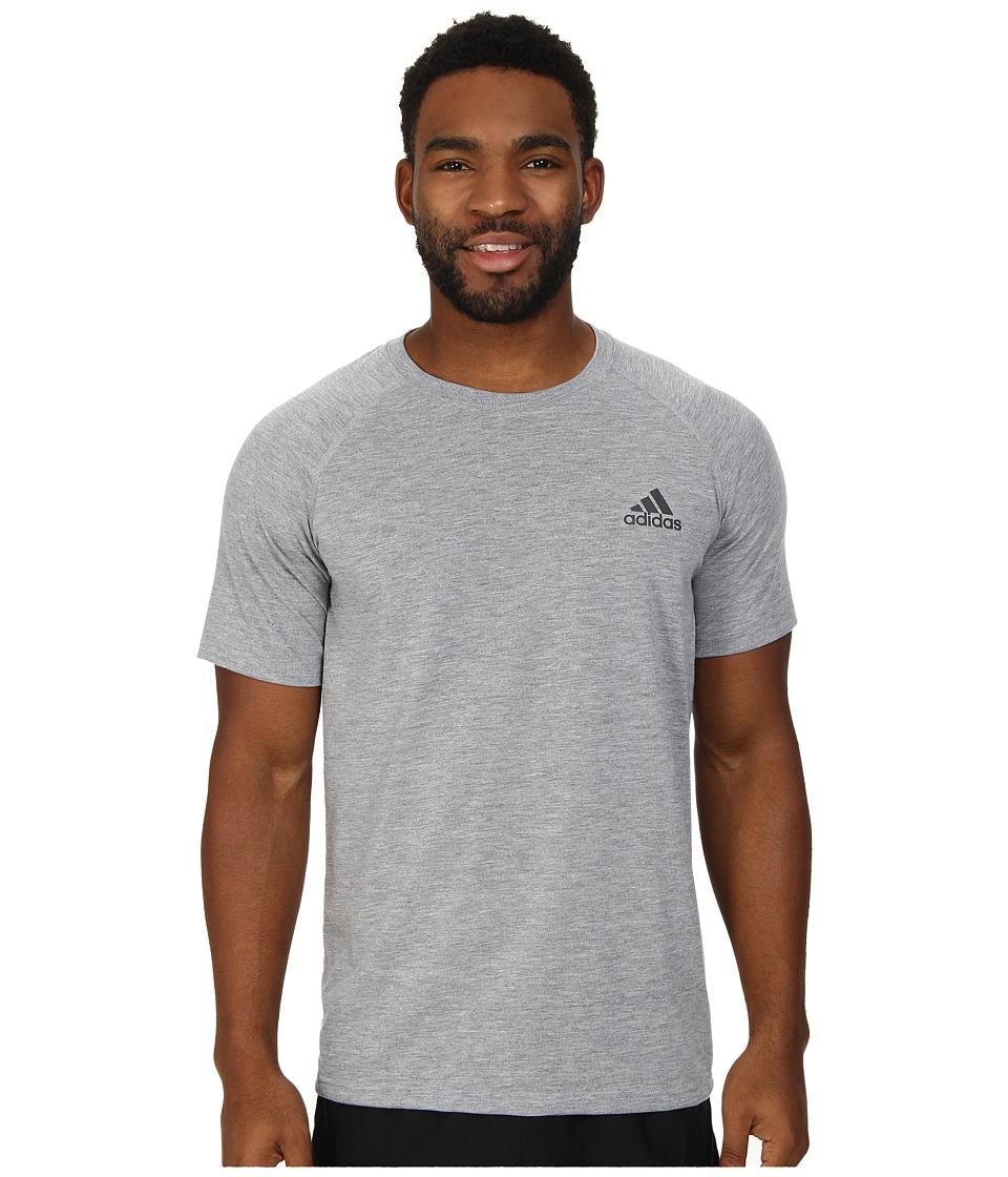 adidas - Ultimate S/S Crew Tee (Medium Grey Heather/DGH Solid Grey) Men