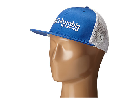 Columbia PFG Mesh™ Flat Brim Ballcap - Vivid Blue/Marlin