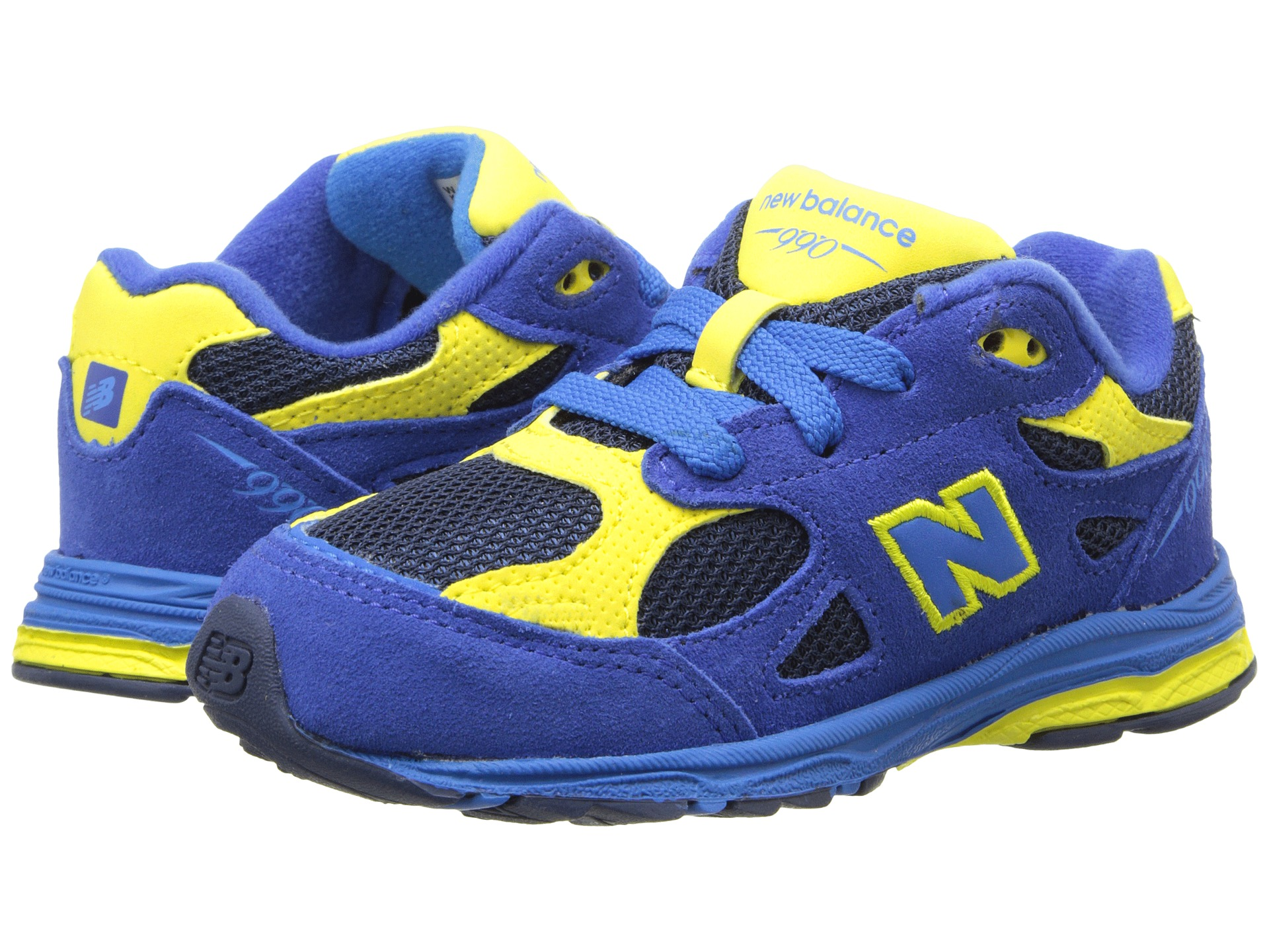 blue and yellow new balance 990