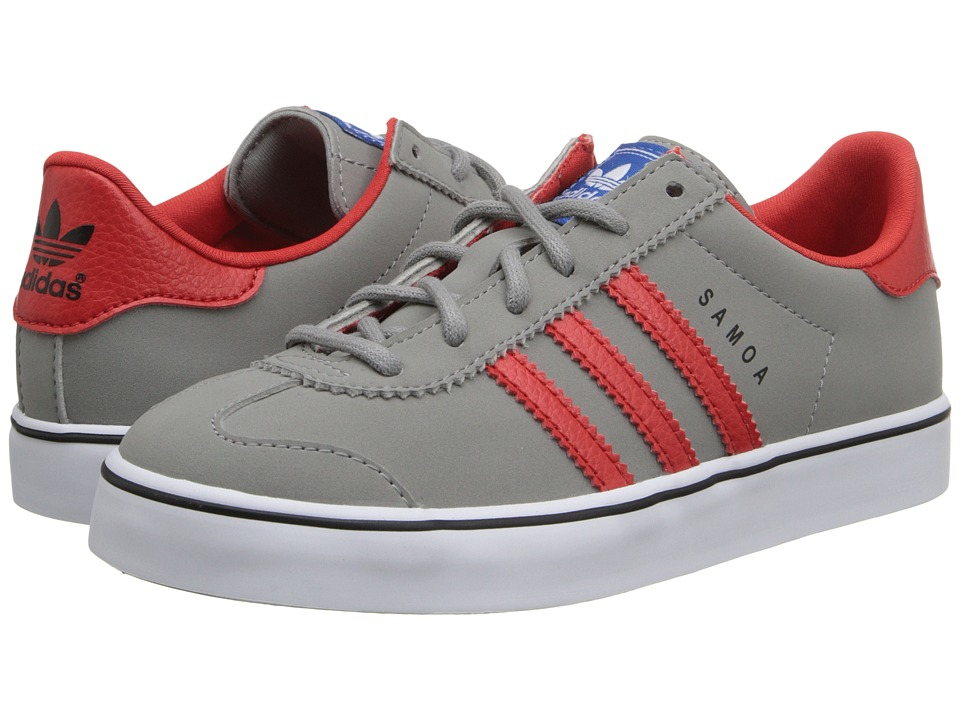 adidas Originals Kids - Samoa Vulc (Little Kid) (Solid Grey/Red/White) Boys Shoes