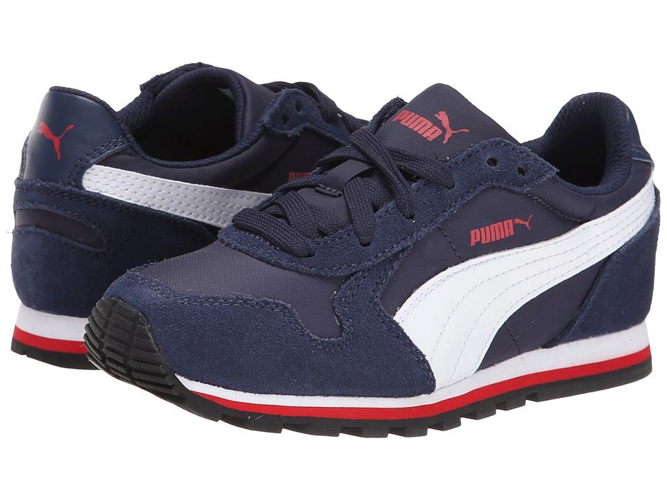Puma Kids ST Runner NL Jr Little Kid/Big Kid Peacoat/White/High Risk Red Boys Shoes