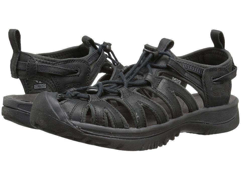 Keen - Whisper Leather (Black/Raven) Women's Shoes