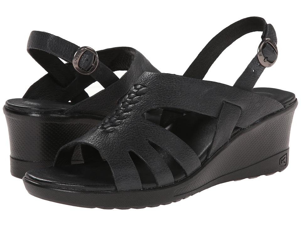 Keen - Elizabeth (Black) Women's Wedge Shoes
