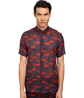 Marc Jacobs - Slim Fit Flamingo Print S/S Button Up