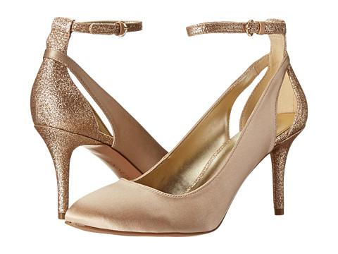 Nine West Educate Light Gold Gold Satin Shoe - Best Women High Heels