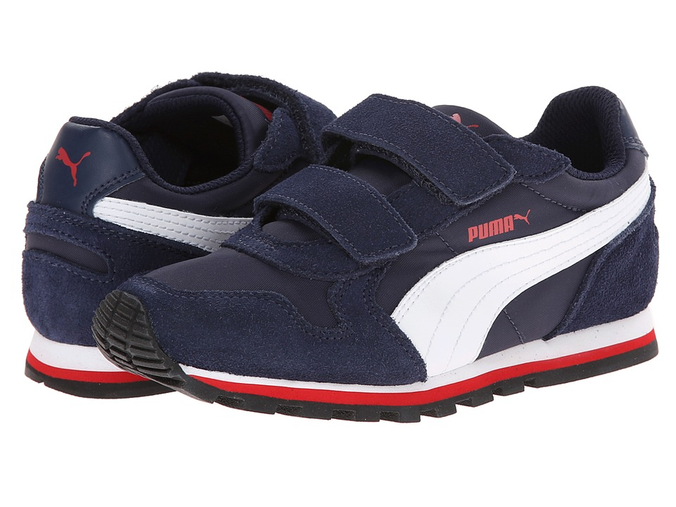 Puma Kids - ST Runner NL V (Toddler/Little Kid/Big Kid) (Peacoat/White/High Risk Red) Boys Shoes