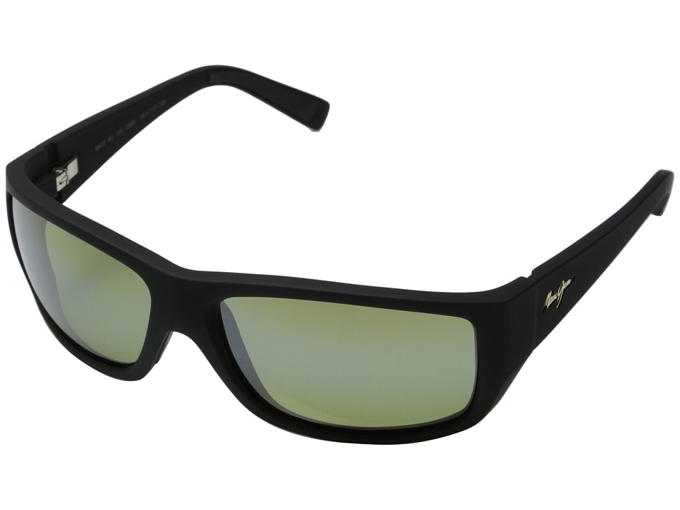 Maui Jim - Wassup (Matte Black Rubber/Maui HT) Fashion Sunglasses