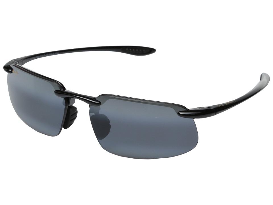 Maui Jim - Kanaha Universal Fit (Gloss Black/Neutral Grey) Fashion Sunglasses