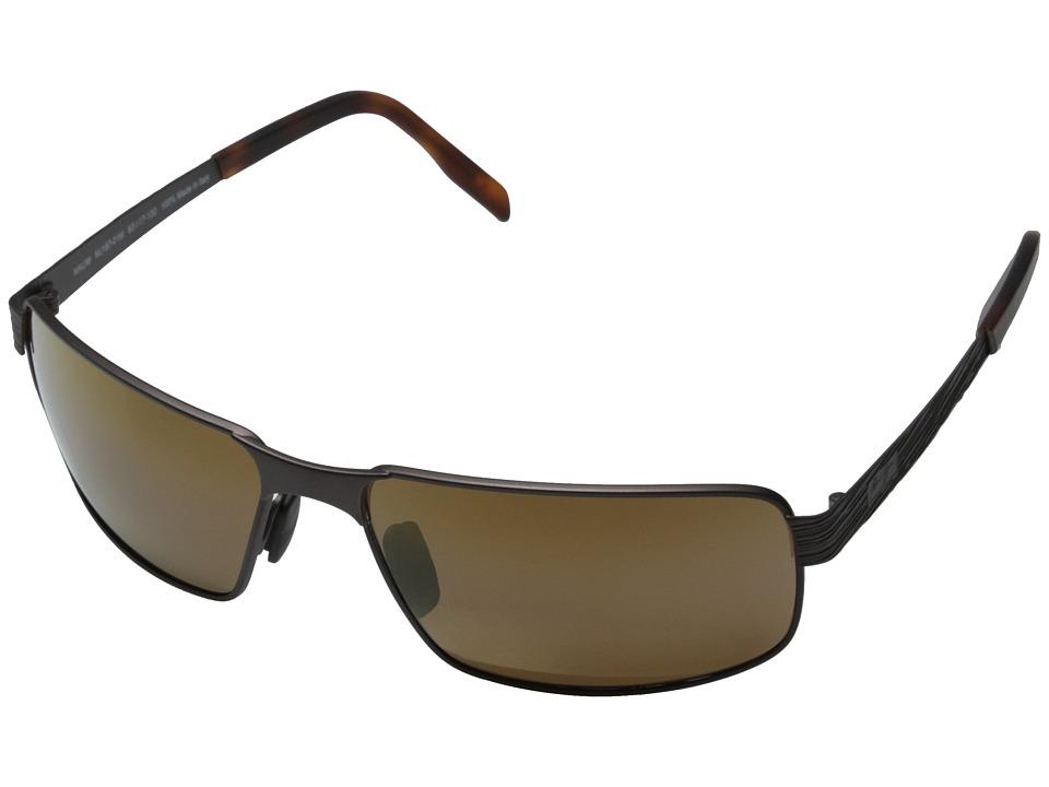 Maui Jim Castaway Matte Chocolate/HCL Bronze Fashion Sunglasses