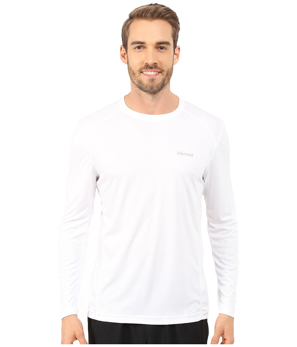 Marmot - Windridge LS (White) Mens Long Sleeve Pullover