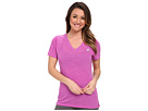 adidas Ultimate S/S V-Neck Tee (Flash Pink Heather/Matte Silver)