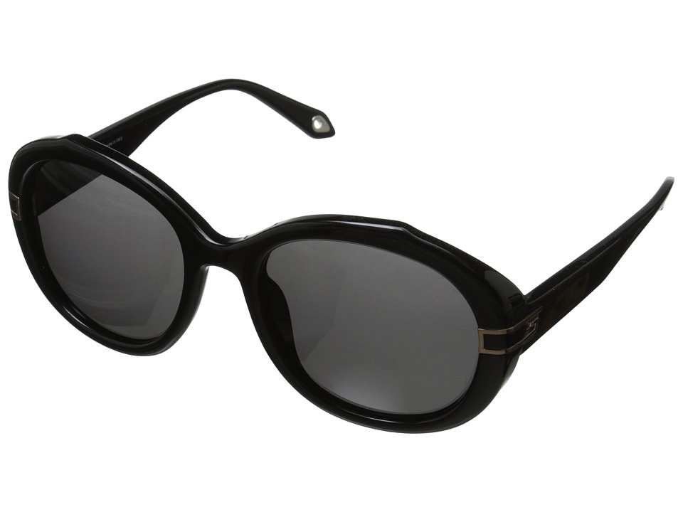Givenchy SGV 877 Shiny Black/Gold/Grey Fashion Sunglasses