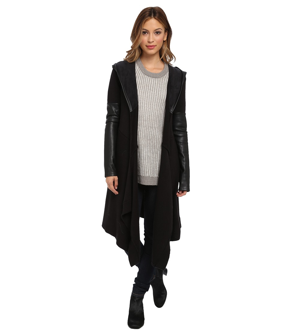 Blank NYC - Long Sweater w/ Vegan Leather Detail in Vegan Diet