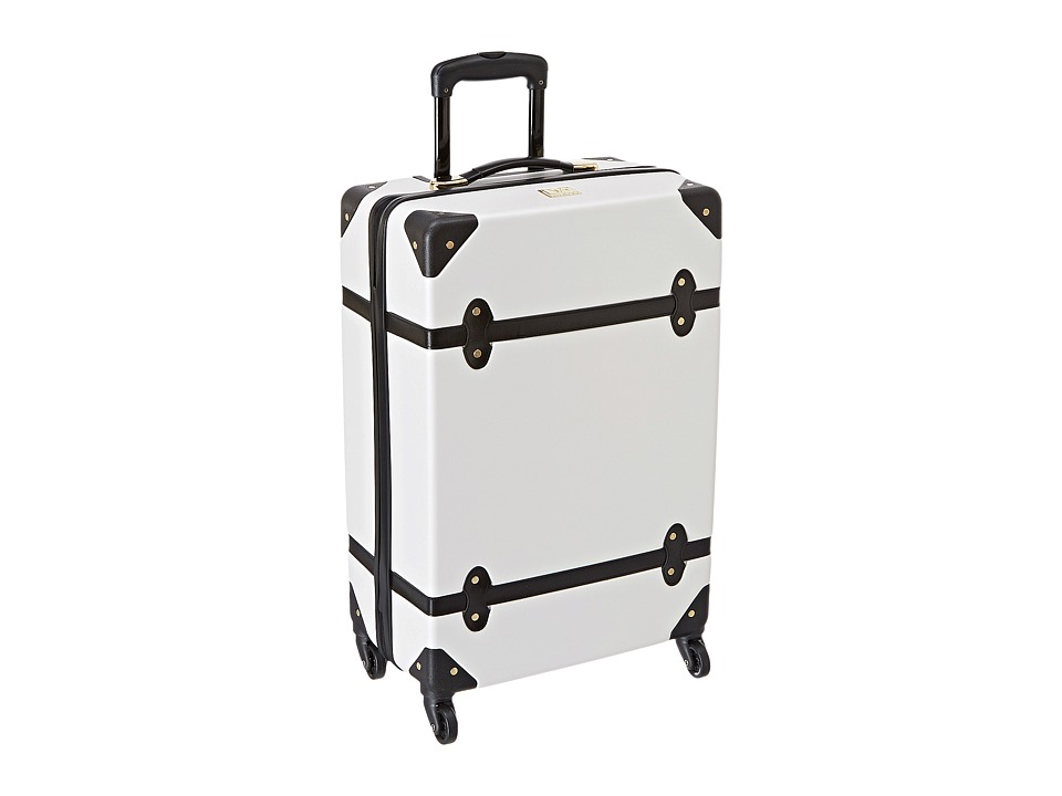 Diane von Furstenberg - Saluti 24 Hardside Spinner (White/Black) Luggage